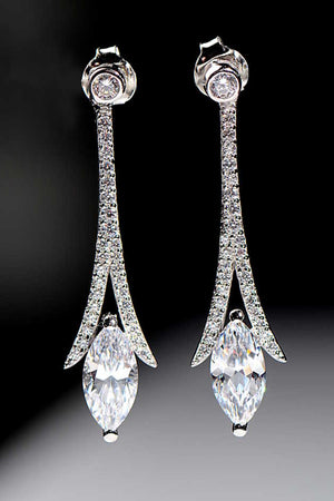 Clarity long drop earrings - Unforgettable Jewellery