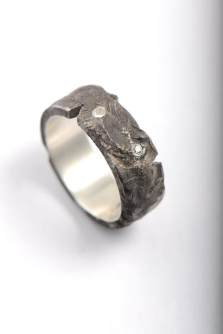 6mm chamfered edge wedding ring