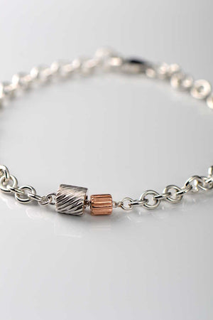 Bella Figura rose gold Ditalini and silver Ditali bracelet - Unforgettable Jewellery