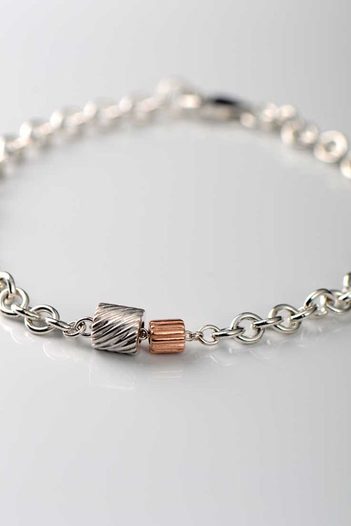 Bella Figura rose gold Ditalini and silver Ditali bracelet