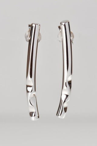Bella Figura Ditalini gold and silver long drop earrings