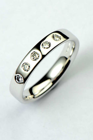 18ct white gold diamond set wedding ring - Unforgettable Jewellery