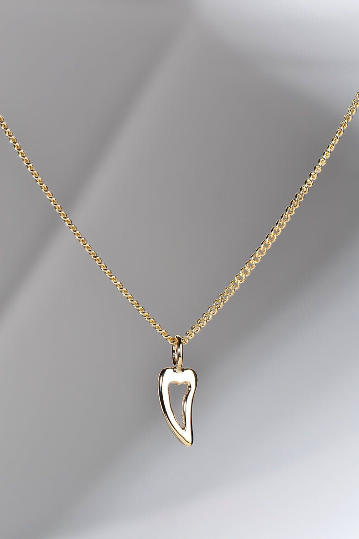 My angel gold heart pendant