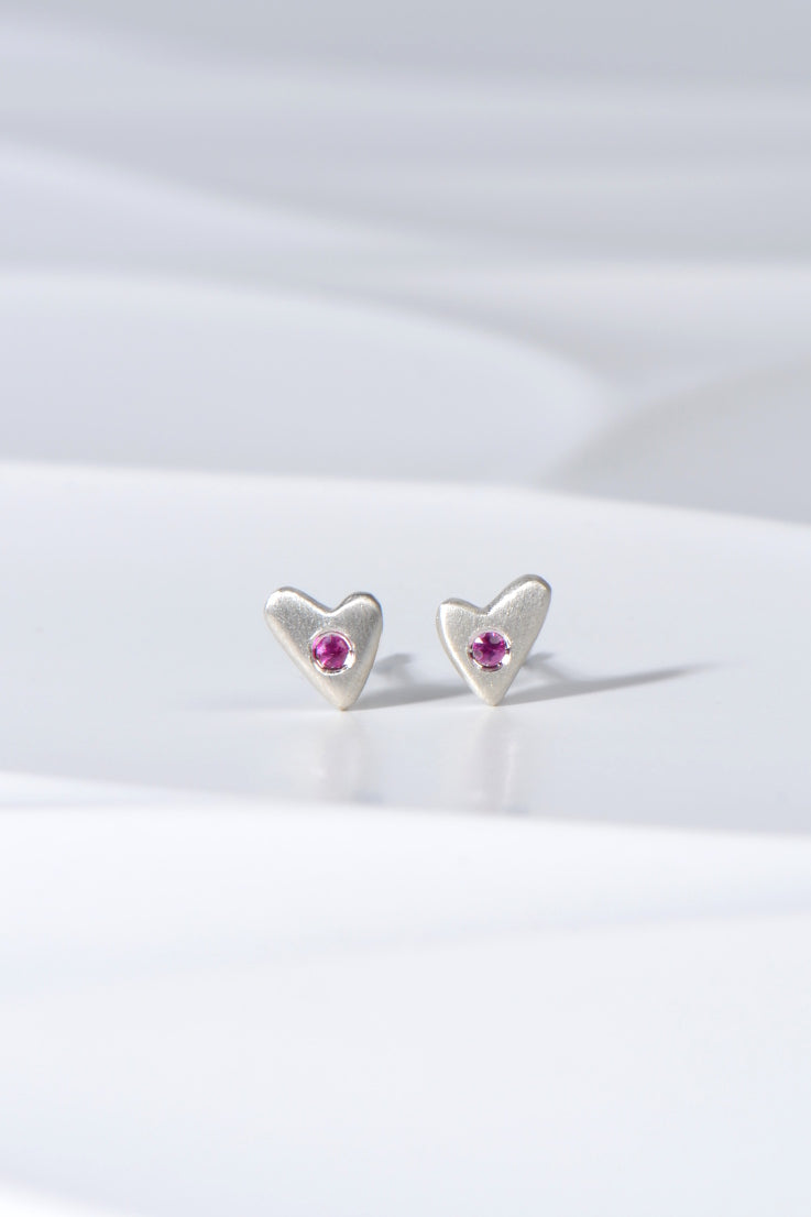 From the heart pink sapphire earrings
