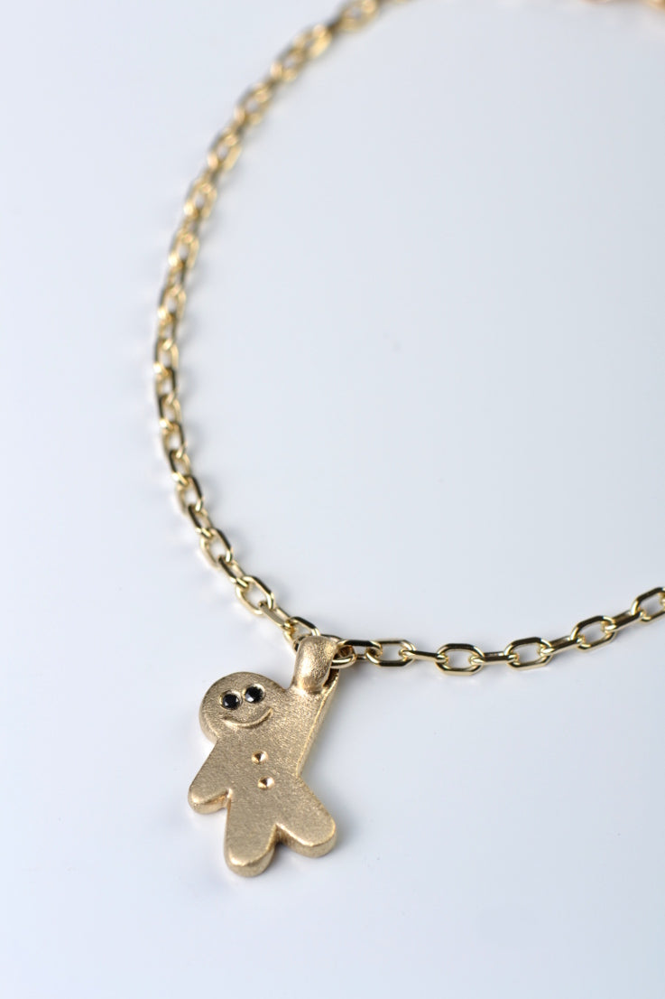 9ct gold gingerbread baby on bracelet