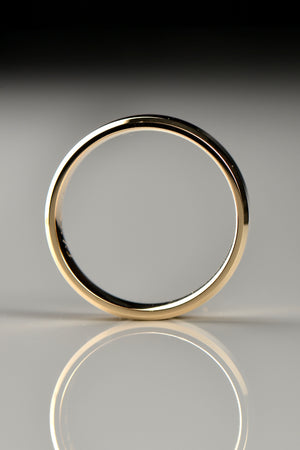 Yellow gold wedding ring 6mm wide