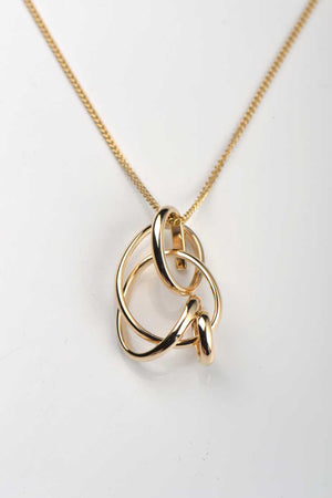 Knot The End 9ct yellow gold pendant - Unforgettable Jewellery