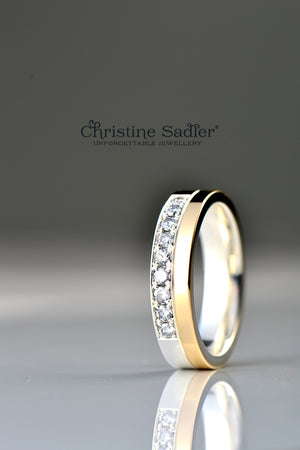 Affinity silver and yellow gold band