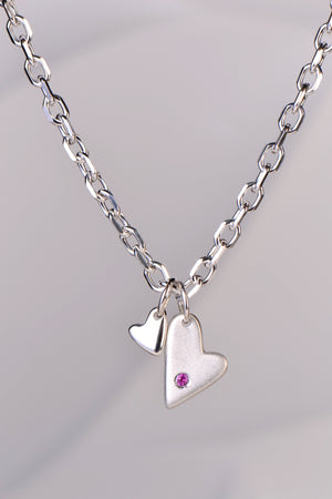 From the Heart pink sapphire necklace