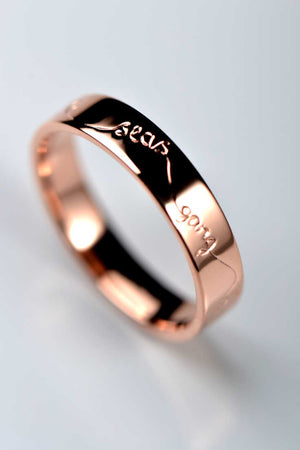 Rose gold wedding ring 4mm wide