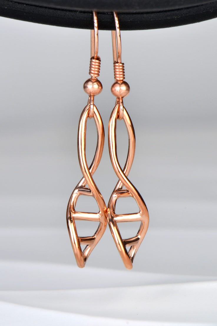 Designer Genes rose gold earrings