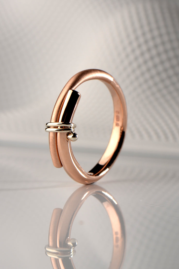 Stay Together 9ct rose and white gold ring
