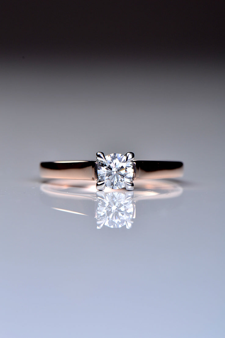 Certificated diamond engagement ring in rose gold - Unforgettable Jewellery