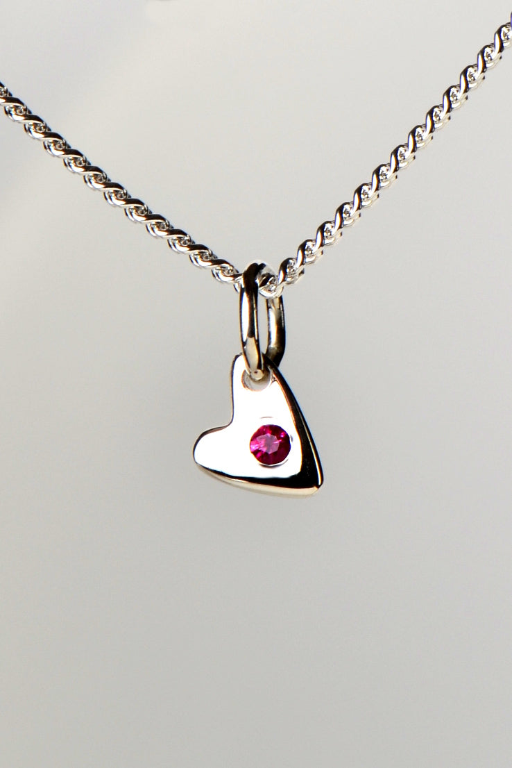 From The Heart ruby pendant