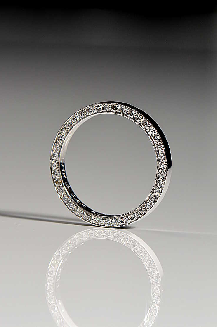 Contemporary diamond set wedding ring - Unforgettable Jewellery