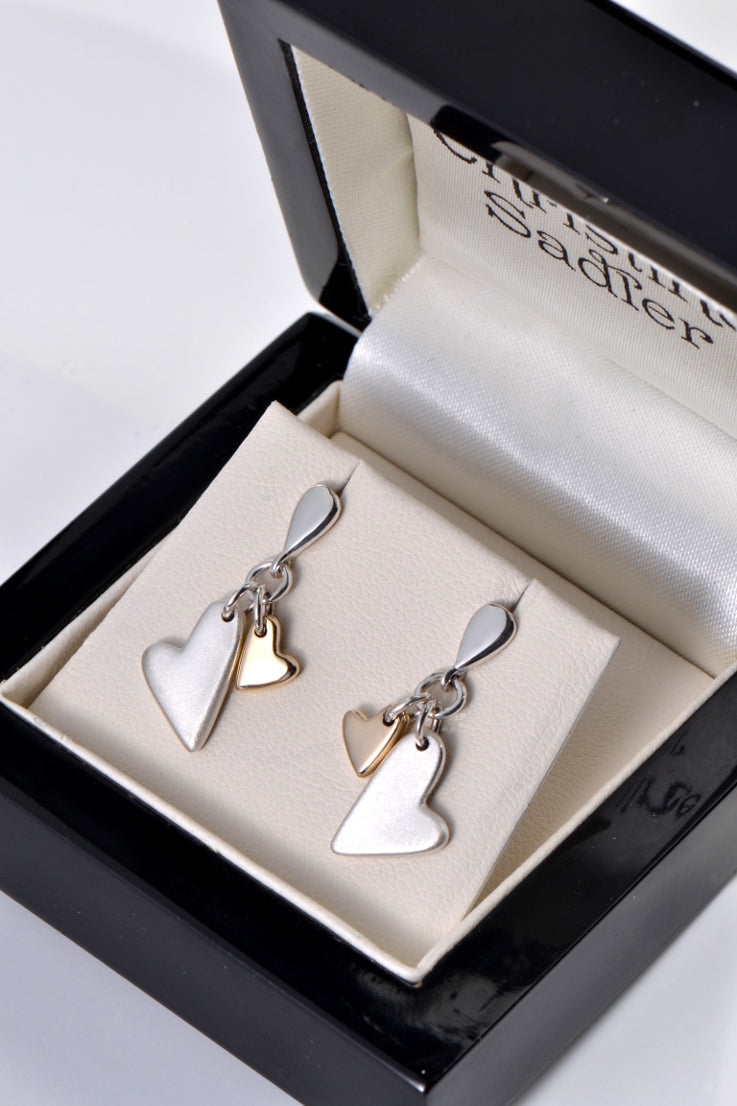 From the Heart drop earrings