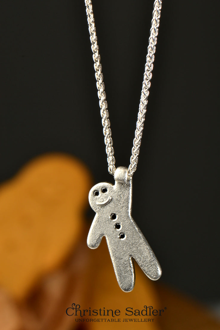Gingerbread baby pendant - Unforgettable Jewellery