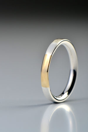 Handmade silver and gold ring
