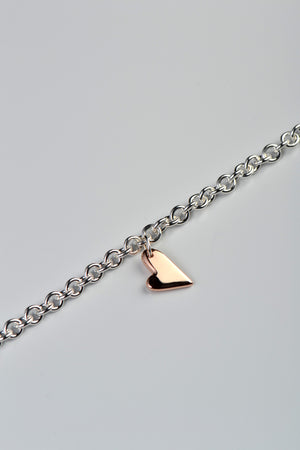 From the heart rose gold and silver bracelet