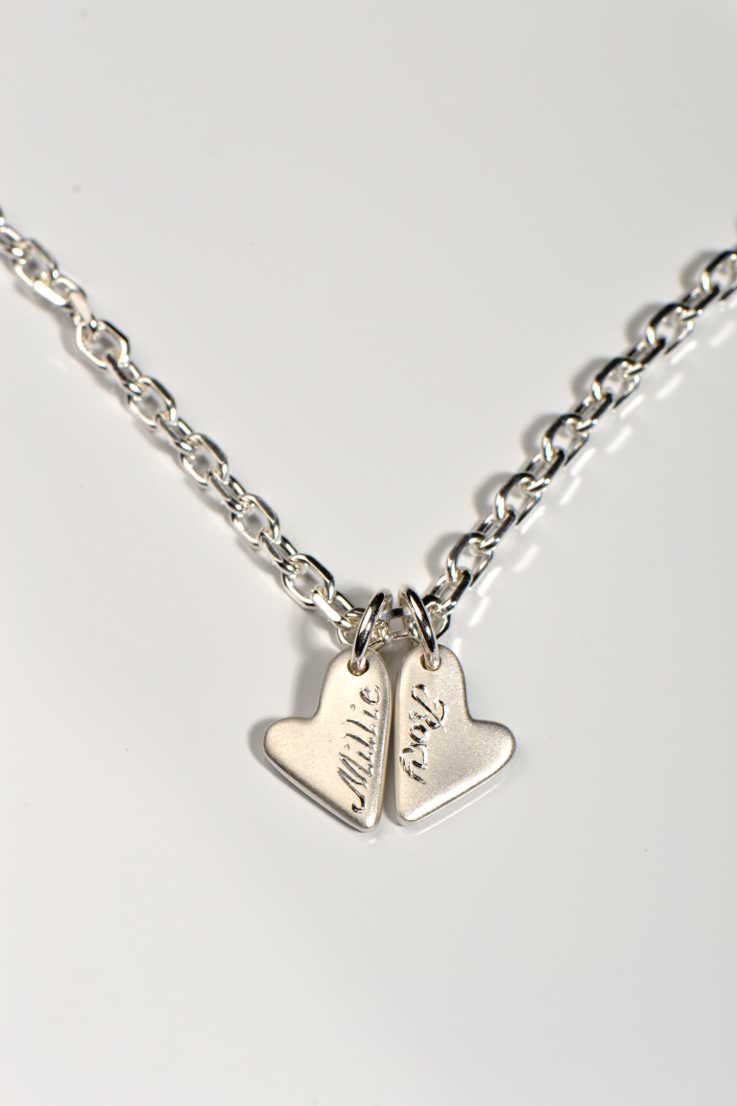 From the heart double heart pendant - Unforgettable Jewellery