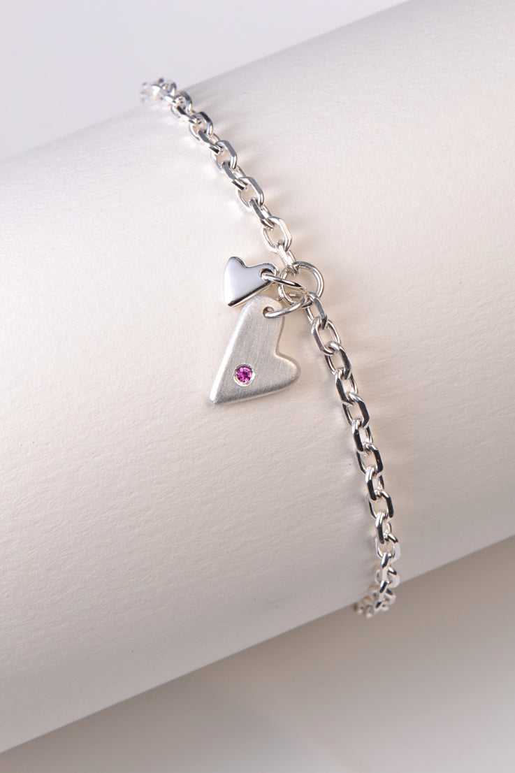 From the Heart pink sapphire bracelet