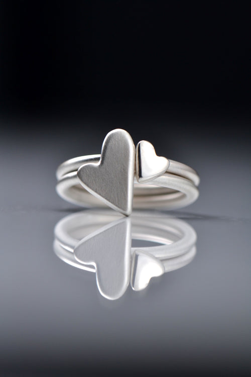 From The Heart two heart stacking ring - Unforgettable Jewellery