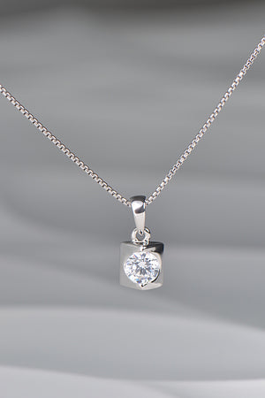 Silver Wedge pendant