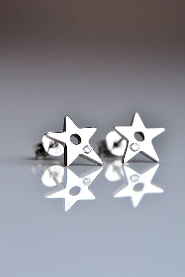 Falling star 9ct white gold diamond earrings - Unforgettable Jewellery