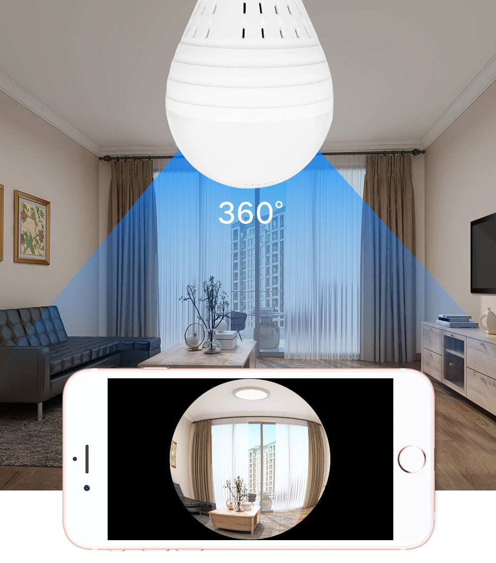 360° Fish Eye Bulb Panoramic Camera
