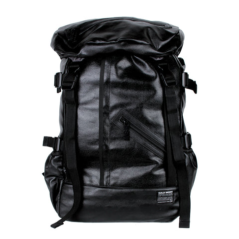 All Black Everything Leather Backpack by Sully Wong