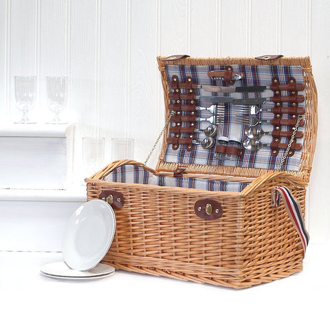Stretford 4 Person Picnic Basket Hamper with Shoulder Strap