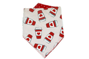 Kirk and Willie Valentine's Day Dog Bandana