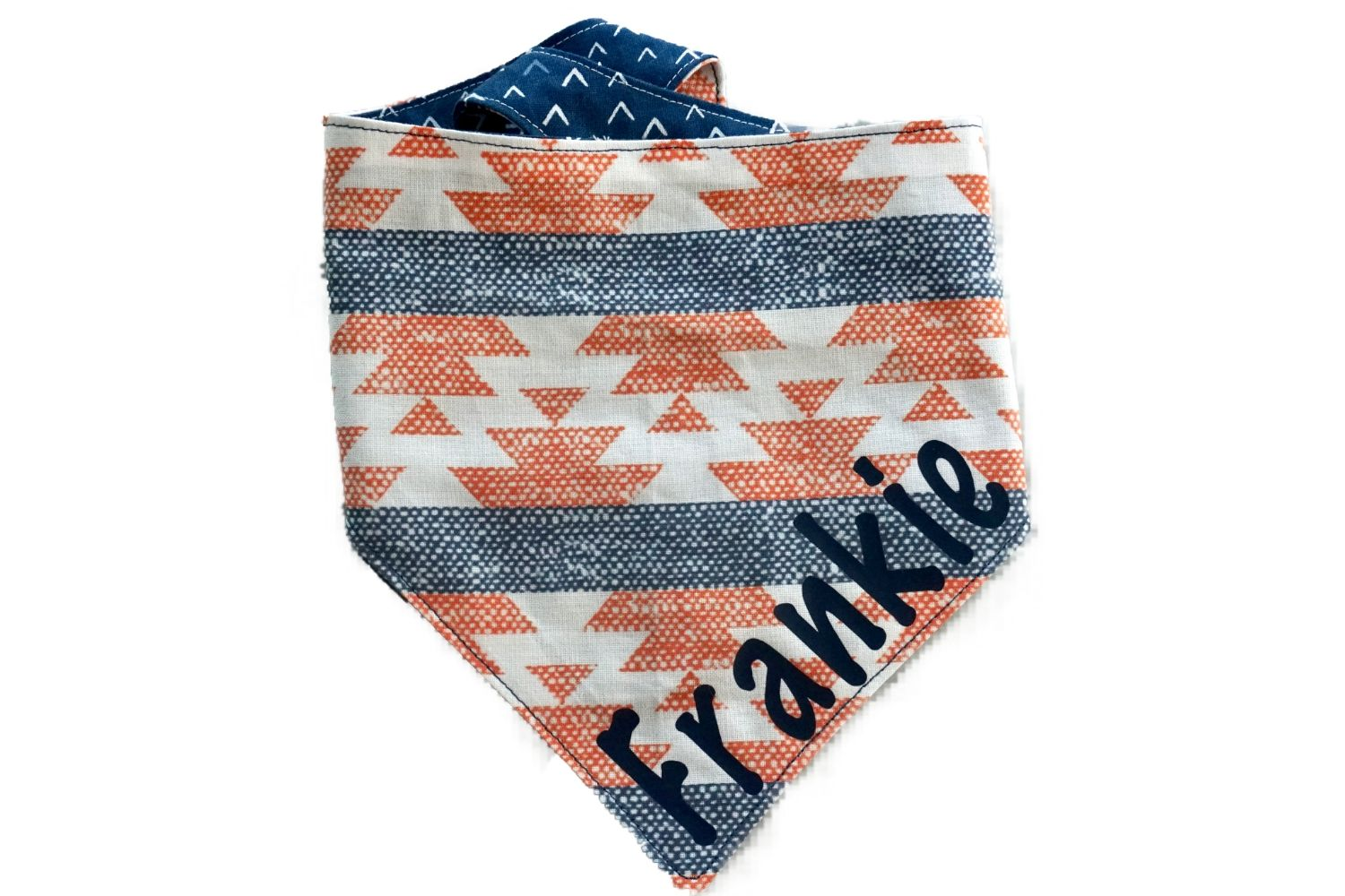"Personalized Aztec Print Dog Bandana ""Follow Your Arrow"""