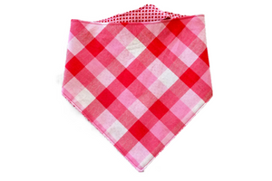 "Personalized Plaid Valentine's Day Dog Bandana ""I Ruff You"""