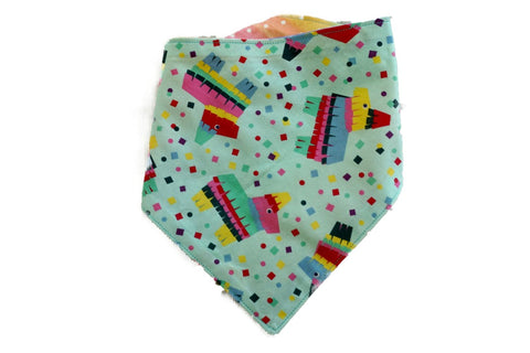 "Personalized Rainbow and Piñata Print Dog Bandana ""Rainbow Fiesta"""