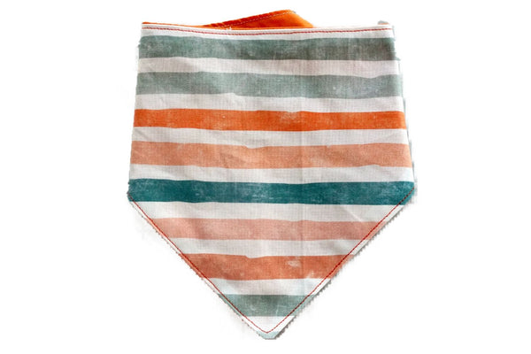 "Personalized Pastel Stripe Print Dog Bandana ""Just my stripe"""