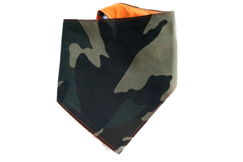 "Personalized Camouflage Print Dog Bandana ""It's Duck Season"""