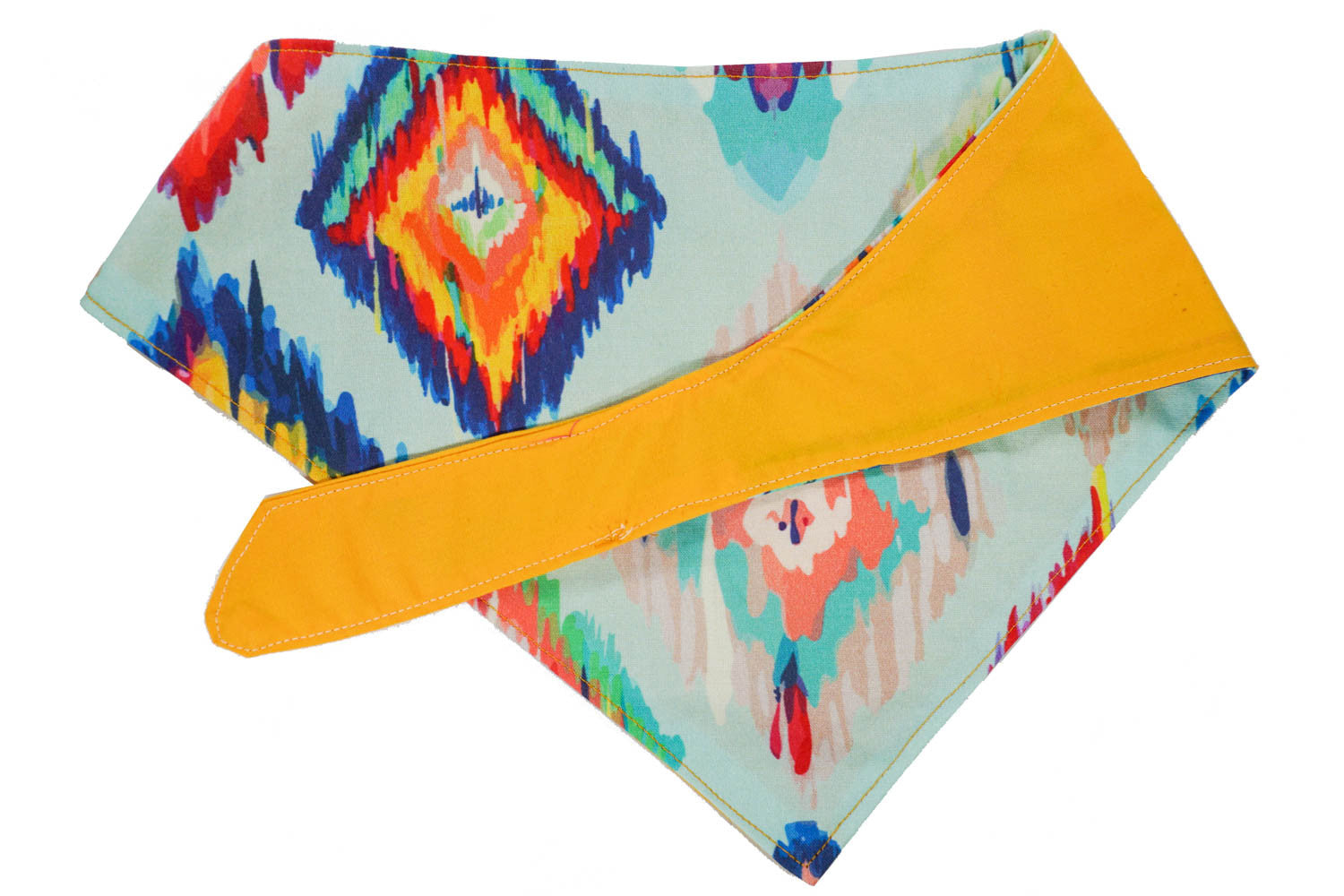 Cute ikat pattern dog bandana