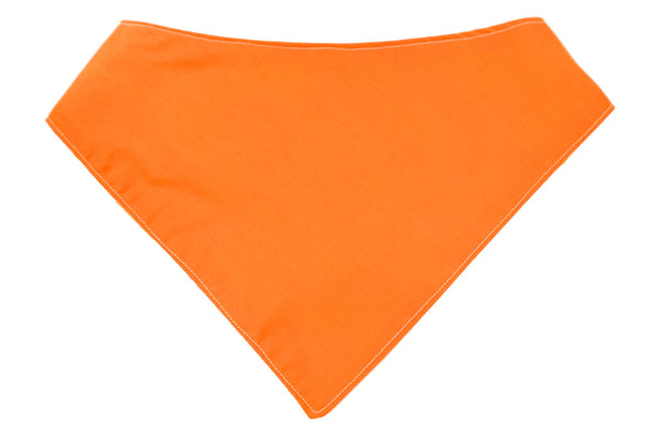 Orange dog bandana for dogs of all shapes and sizes