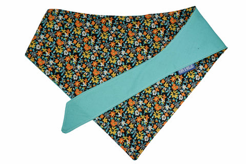 "Personalized Floral Print Dog Bandana ""Hello Spring"""