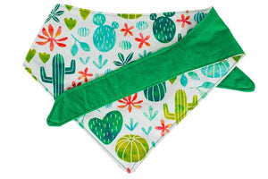 "Personalized Cacti Print Dog Bandana ""Fancactus Year"""