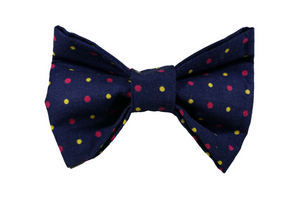 "Yellow & Pink Confetti Dot Bow ""Time to Celebrate"""