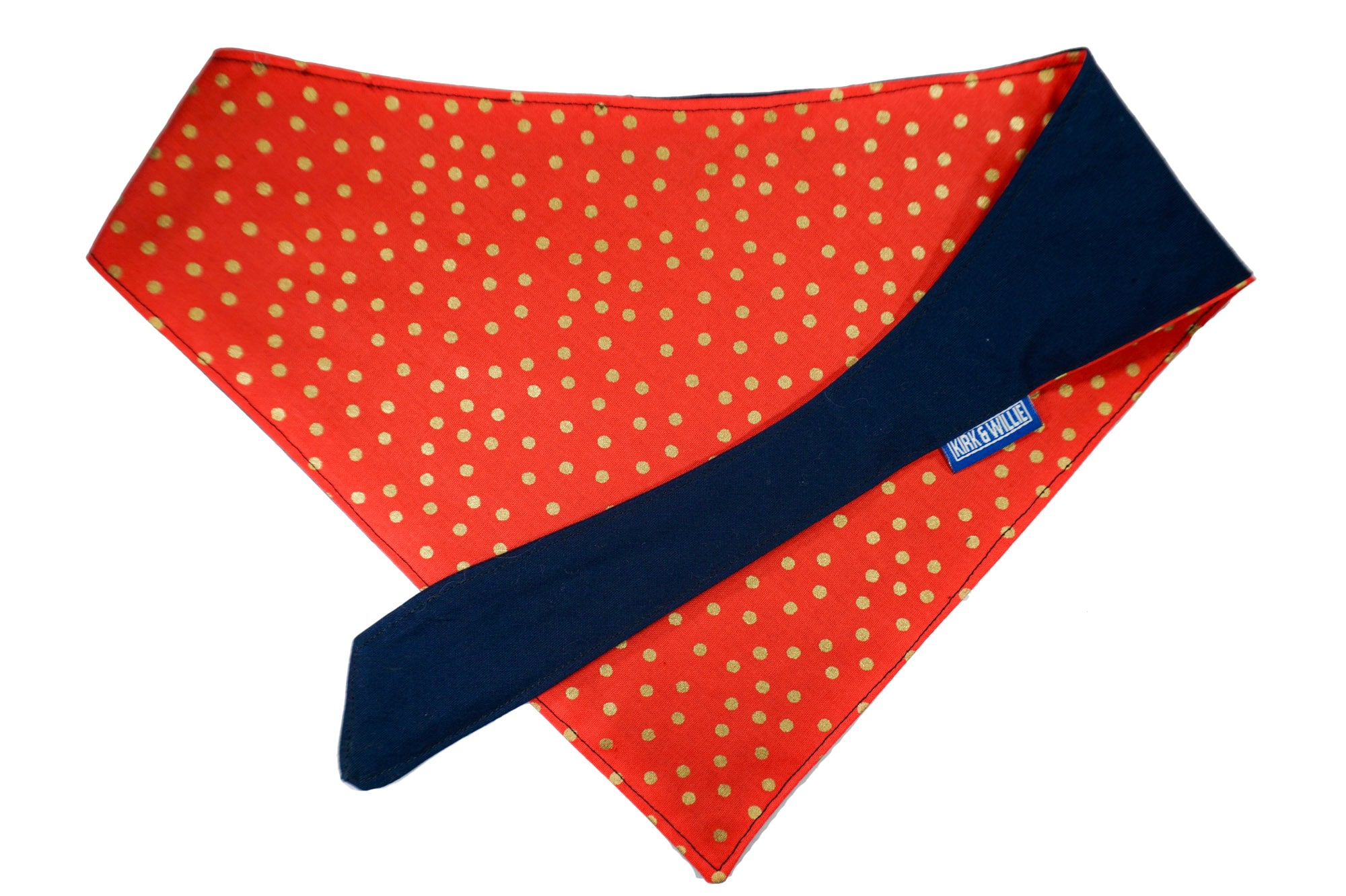 "Personalized Gold Dot Dog Bandana ""Stay Golden"""