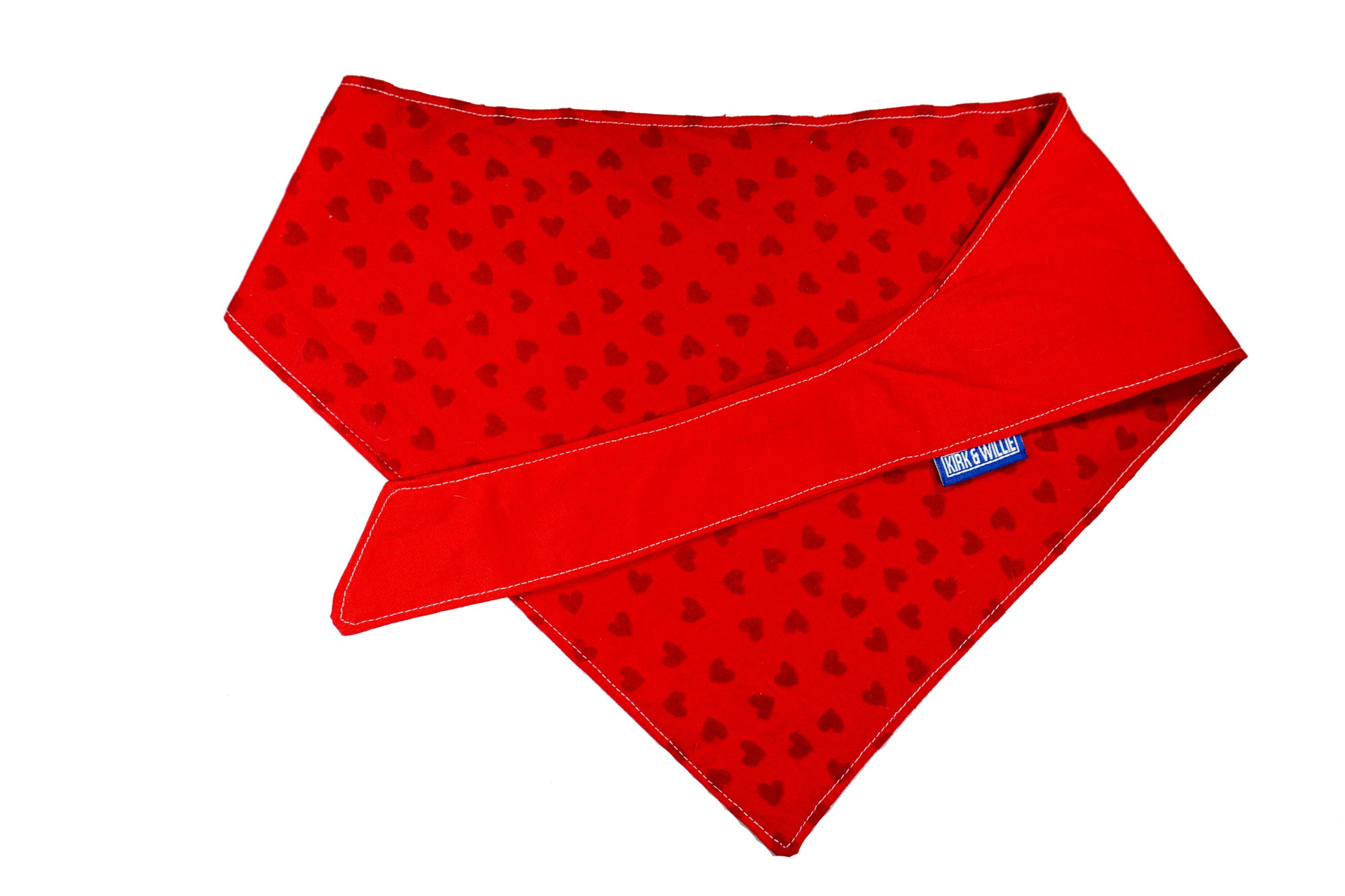 "Personalized Felt Hearts Dog Bandana ""Feeling Good"""