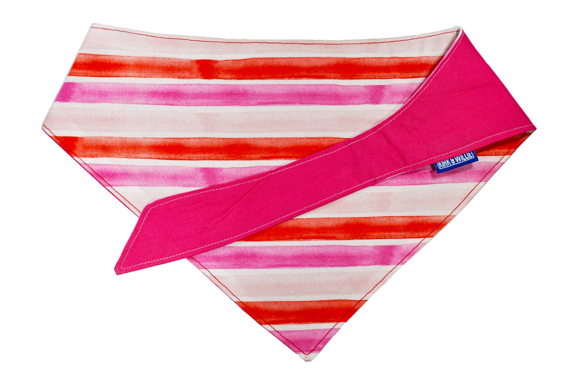 "Personalized Pink Stripe Dog Bandana ""Think Pink"""