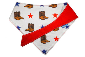 "Personalized Texas Print Dog Bandana ""Howdy Y'all"""