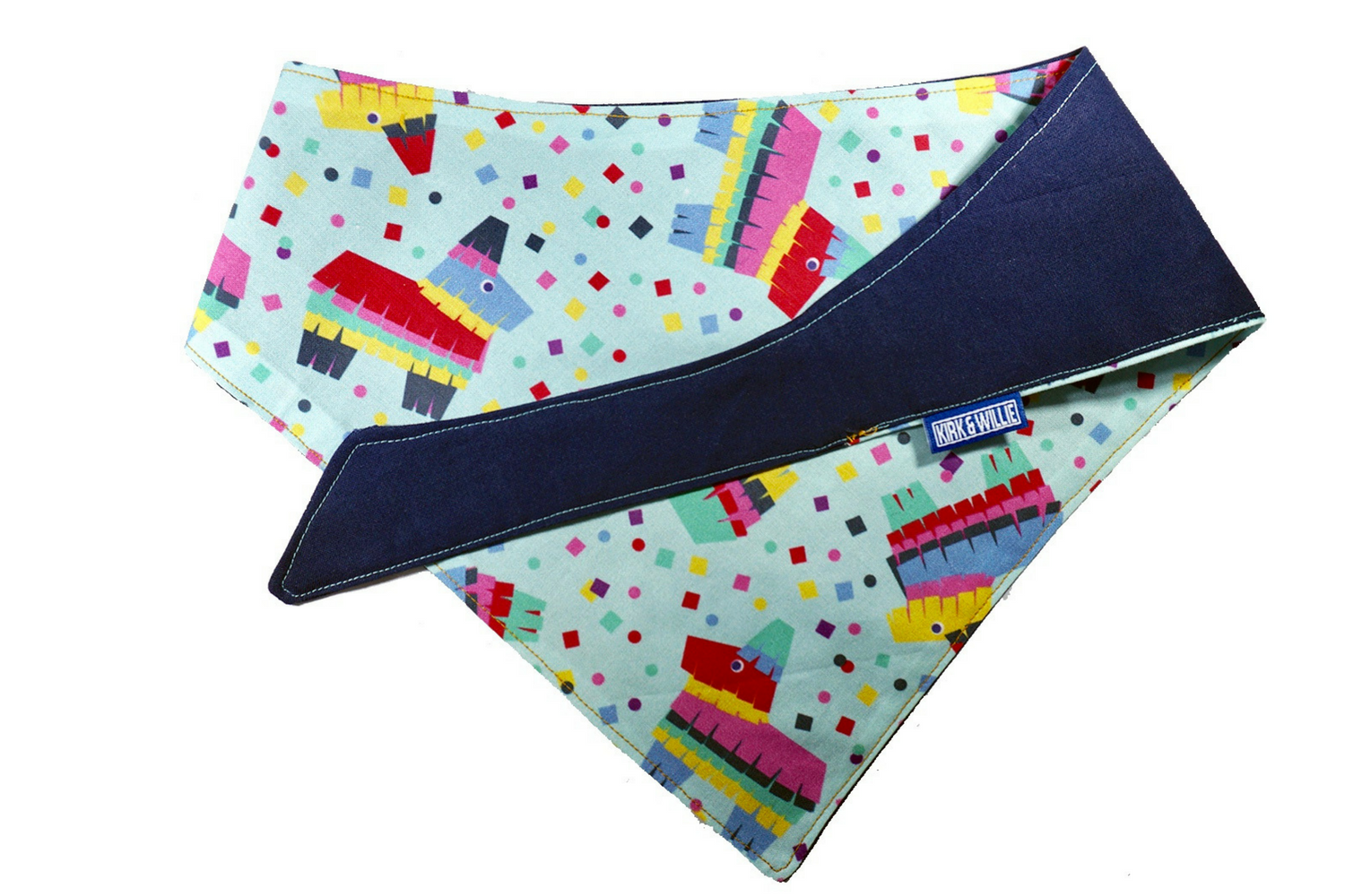 """Here to Fiesta"" Pinata Print Dog Bandana"