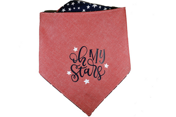 """Oh My Stars"" Star Print Dog Bandana"