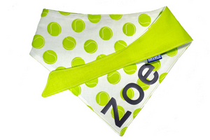 "Personalized Dog Bandana ""Tennis Ball"""