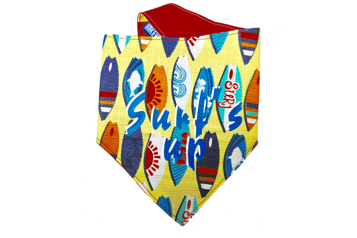 """Surf's up"" Print Dog Bandana"